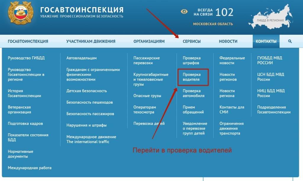 информация по водительскому удостоверению