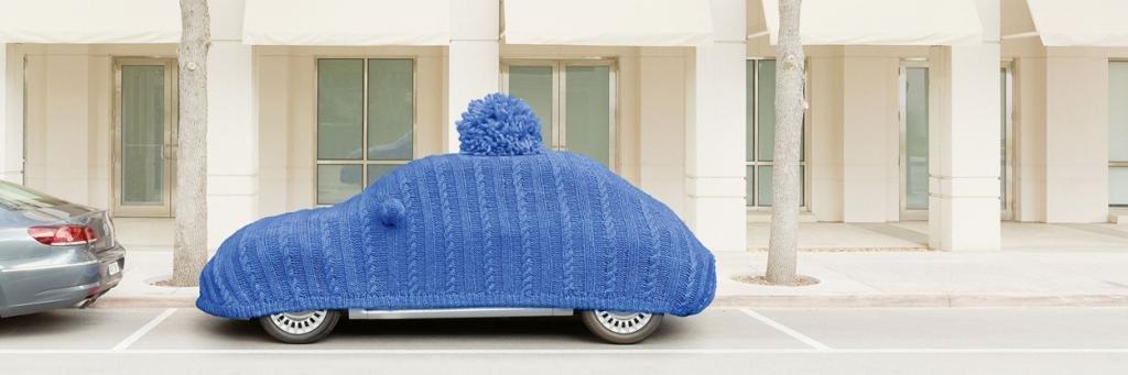 Авто в шапке