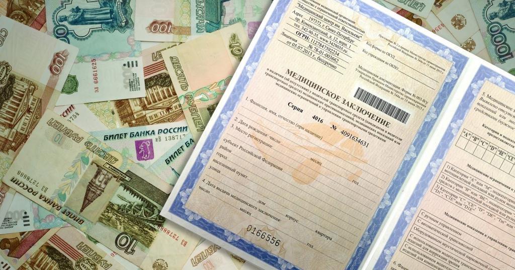 Сколько стоит медсправка на права