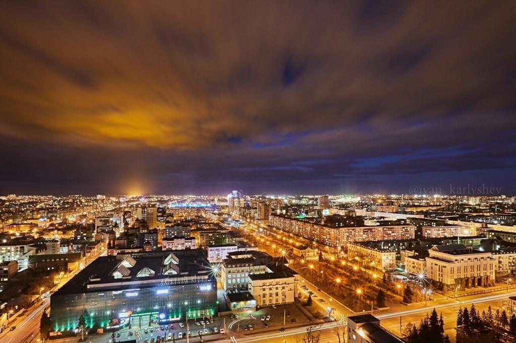 Челябинск вечер огни
