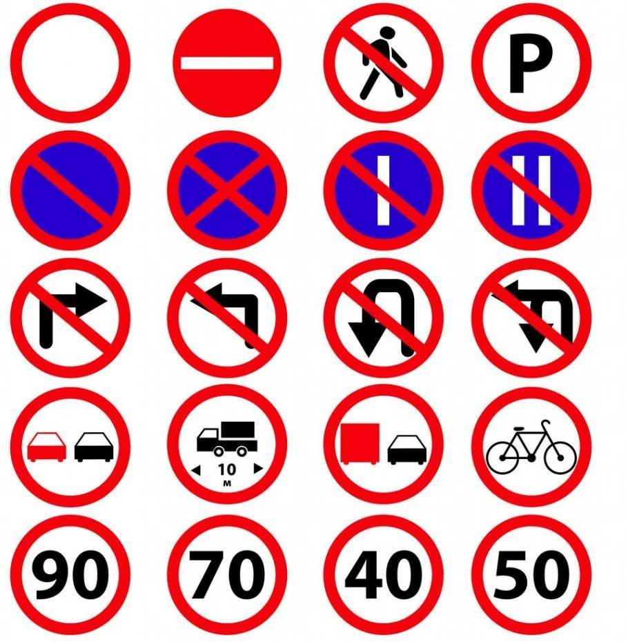примеры запрещающих знаков