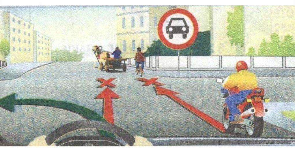 пример дорожной ситуации с участием знака 3.3